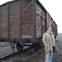 25 février 2013. Sur la Judenrampe entre Auschwitz et Birkenau.