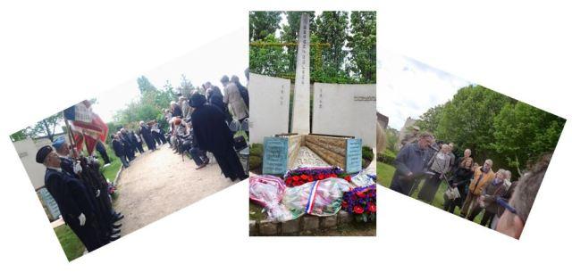 Cérémonie du 11 mai 2014 au monument de l'Amicale de Bergen-Belsen - Cimetière du Père-Lachaise (photos M. Charles Trémil)