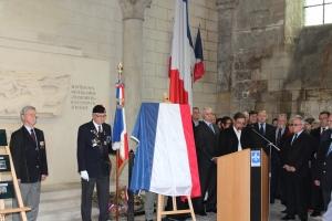 Dimanche 26 avril 2015. Église Saint-Pierre à Soissons lors de mon discours relatant l'histoire des 22 juifs déportés de Soissons et des Justes parmi les nations.