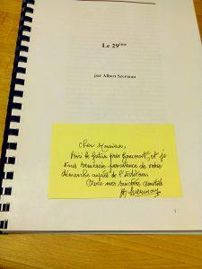 Manuscrit de l'autobiographie d'Albert Szerman. Juin 2015.