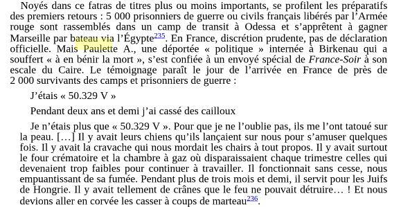 Extrait livre de Didier Epelbaum Pas un mot pas une ligne 1944-1994, des camps de la mort au génocide rwandais. Stock, 2005.
