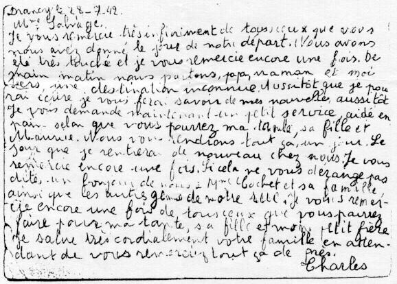 19420728 carte de Charles WAJSFELNER 2