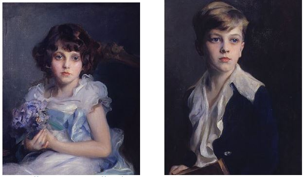Margot et Philippe de Gramont, 1928. Philip Alexius de Laszlo.  By: Natasha Wallace, JJS Gallery.  Copyright 1998-2003, all rights reserved :  http://www.jssgallery.org/Other_Artists/Philip_Alexius_de_Laszlo/Louis_Rene_Comte_de_Gramont_Children.htm