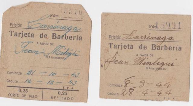 cartes coiffeur prison Larrinaga