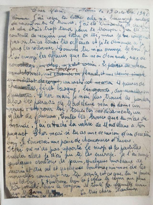 19411019 ESZENBAUM Perla carte verso