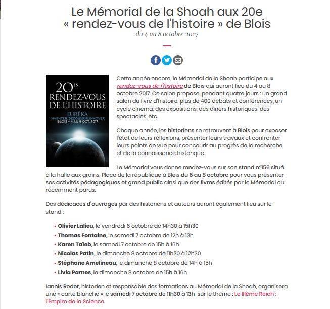 Blois 20e RDV de l'histoire