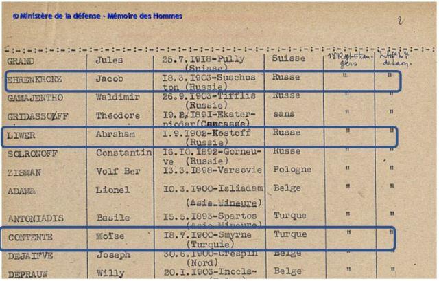 extrait engagés volontaires 1939