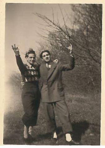 Charles Contenté et Bernard Biegacz en 1946 [Collection particulière].