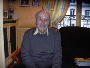 Bernard Bouriki, survivant du convoi n°67. Mon entretien à son domicile le 10 novembre 2008.